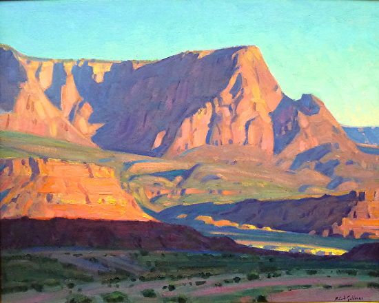 Robert Goldman - OCTOBER DAWN - VERMILLION CLIFFS- Oil on Canvas - Painting entry - April 2014 | BoldBrush Painting Competition