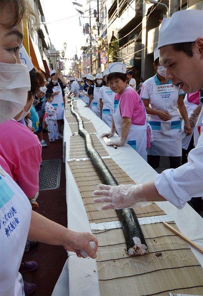 40 foot long Sushi