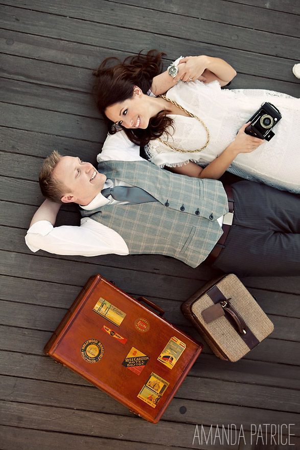 Travel themed engagement session (by Amanda Patrice)