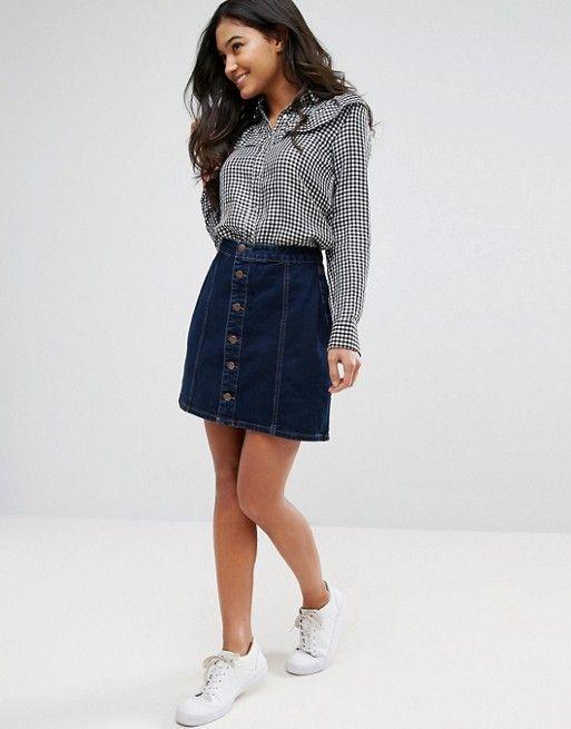 25  best ideas about A line denim skirt on Pinterest | Alexa chung ...