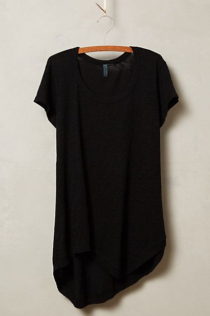 Slubbed Palette Tee by Left of Center in black #anthroregistry