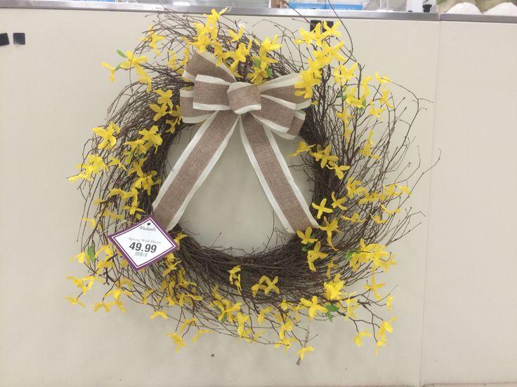 Michaels wreath spring forsythia wreaths