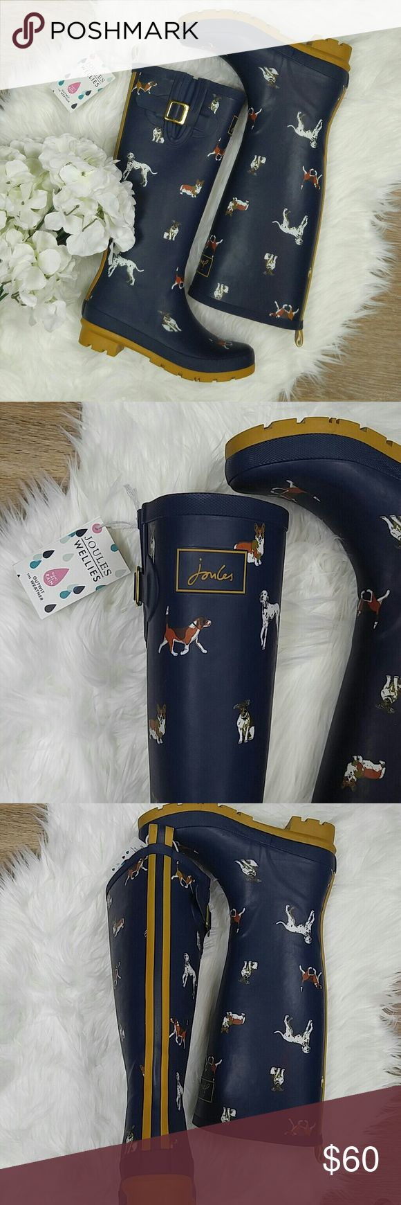 Joules dog print rainboot (SOLD OUT) Size 6 - runs big Joules Shoes Winter & Rain Boots