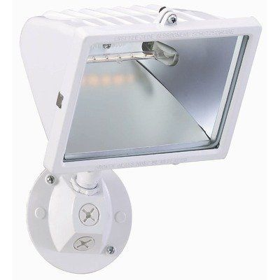Nuvo 76/514 Halogen Floodlight, White, Large by Nuvo. $39.99. White large halogen floodlight. (1) 300-Watt type J 118mm halogen bulb included.