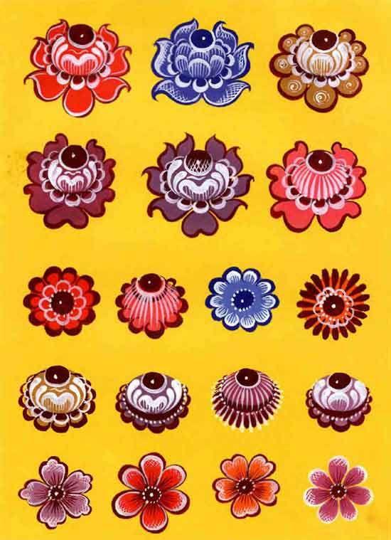Цветы. Городецкая роспись