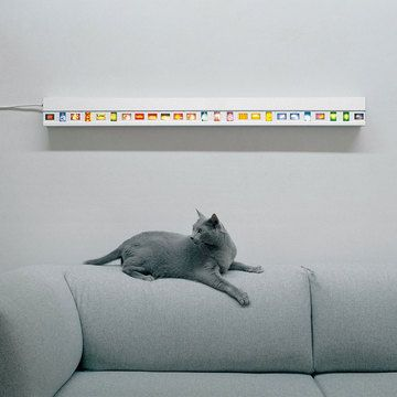Display slides as artwork and light!