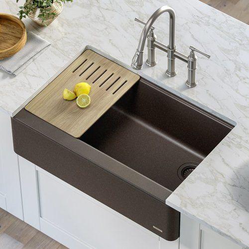 Kraus 30 Inch Wide Bellucci Apron Rectangular Kitchen Sink