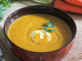 September 2015 Newsletter: Roasted Carrot Soup with Coconut Milk