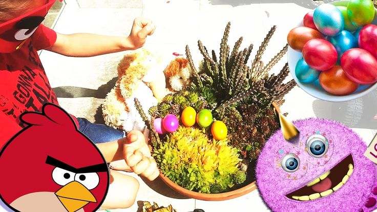 Learn colors for toddlers with surprise eggs, colour preschool, kids activities in the garden!