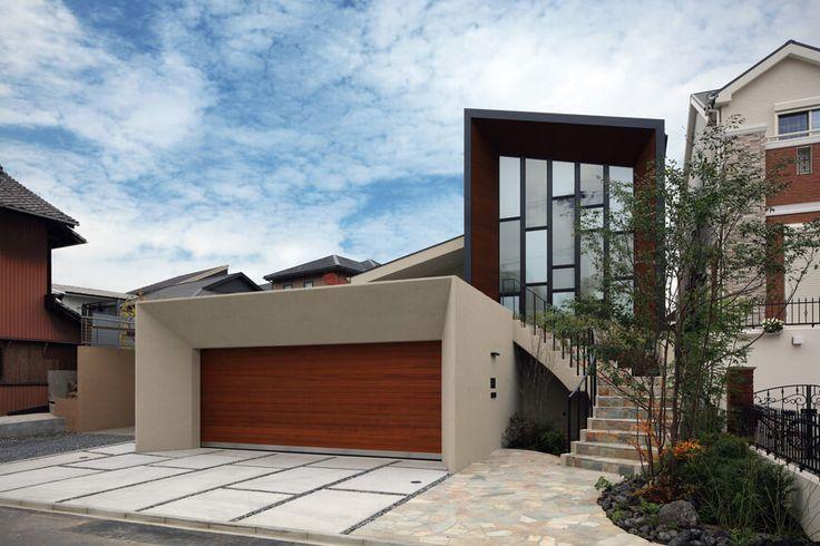 混構造の家 中庭と吹抜けのあるガレージハウス アーキッシュギャラリー