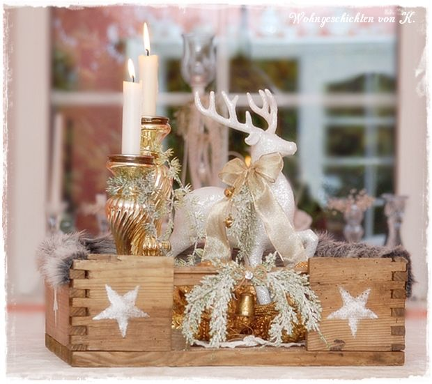 nostalgische Weihnachtsdeko, Adventskranz shabby vintage  Quelle: Wohngeschichten von K.