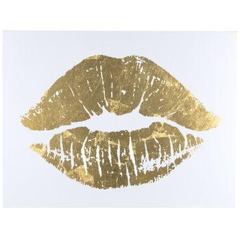 Gold Lips Canvas Art