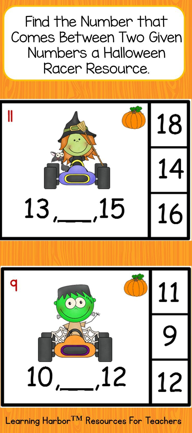 This Autumn / Fall and Halloween resource helps students master counting forward from a given number instead of beginning from 1, and counting to 50. These are building blocks for counting to 100 in kindergarten or counting to 120 in first grade.