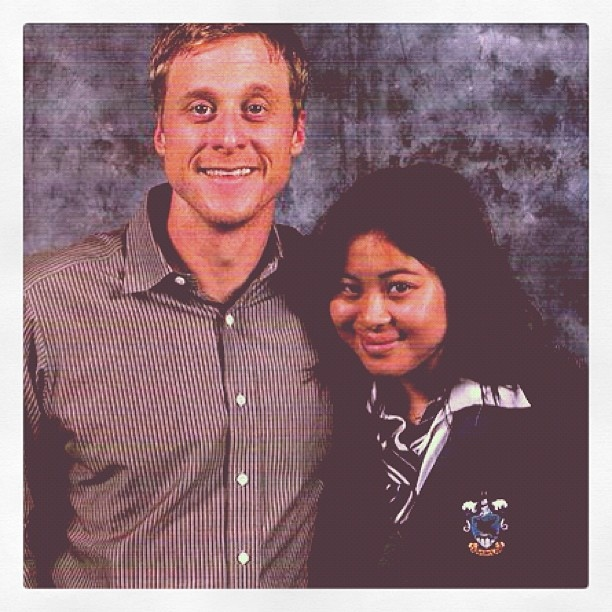 For those that don't know, I am actually a big Firefly/Serenity fan. So when I had the chance to meet Alan Tudyk, I took it. He loved my Ravenclaw robe to boot too. Gorgeous man! I hope he comes back to Australia again someday.  #Firefly #Serenity #AlanTudyk #geekery #geek #scifi #fantasy