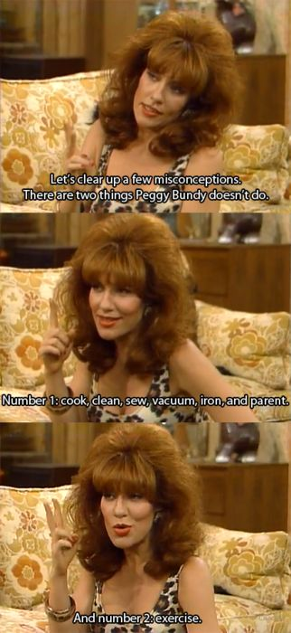 A favourite TV mom ~ Peggy Bundy of Married...With Children
