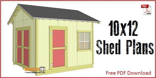 Shed Plans 10x12 With Gable Roof Plans Include A Free Pdf