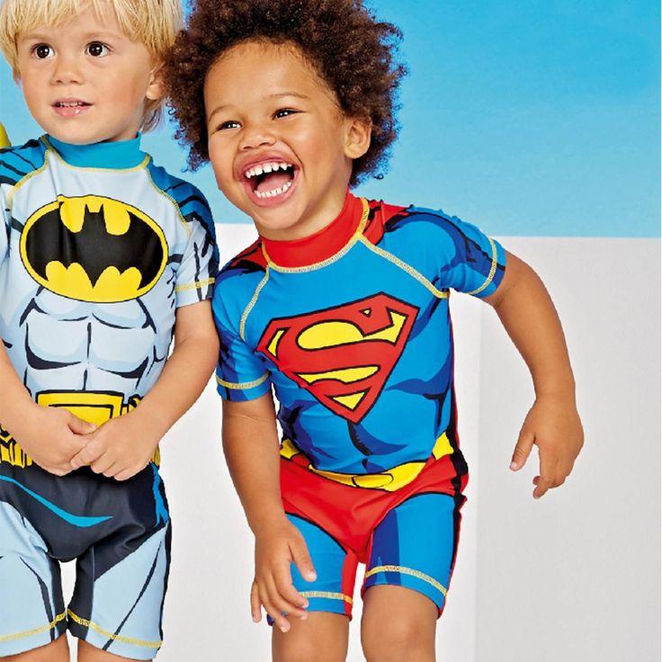 UPF50 + traje de Baño Del Niño Bañador de Natación Niños Capitán América Batman Minions Kids Sport Beachwear de Una Pieza del traje de Baño Del Bebé