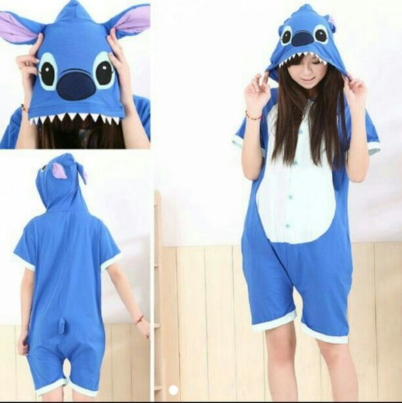 Lilo and stitch from disney onesie Onesie of stitch from lilo and stitch.  Short sleeve and shorts onesie. Great for summer.  Can be used as a cosplay or costume. Like new. Hot Topic Intimates & Sleepwear Pajamas