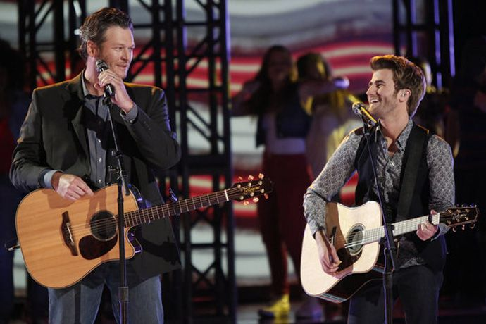 Blake shelton and the swon brothers celebrity