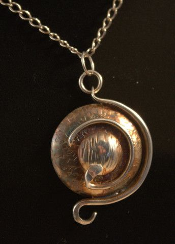 Inspired by an ancient fossil, another unique piece of handcrafted silver jewelry by Ron Smith --SilverbySmith.ca