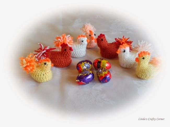 .Linda's Crafty Corner: Easter Chick Pattern in Knit and Crochet...FREE PATTERNS!