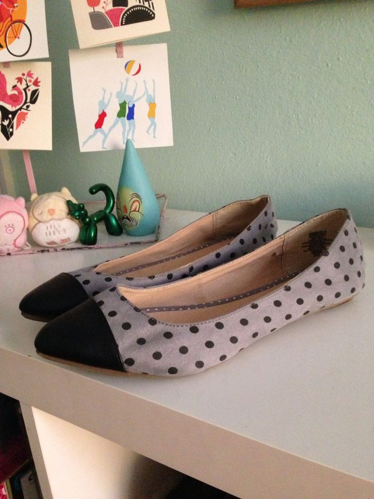 Brand new black and grey Old Navy flats, size 10 Will sell for $16 shipped