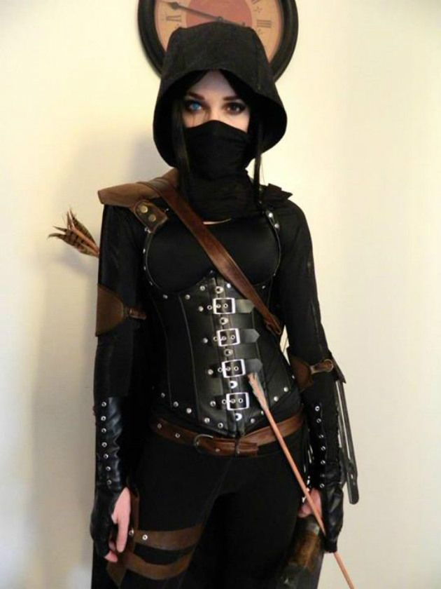 girl assassin outfit  on We Heart It