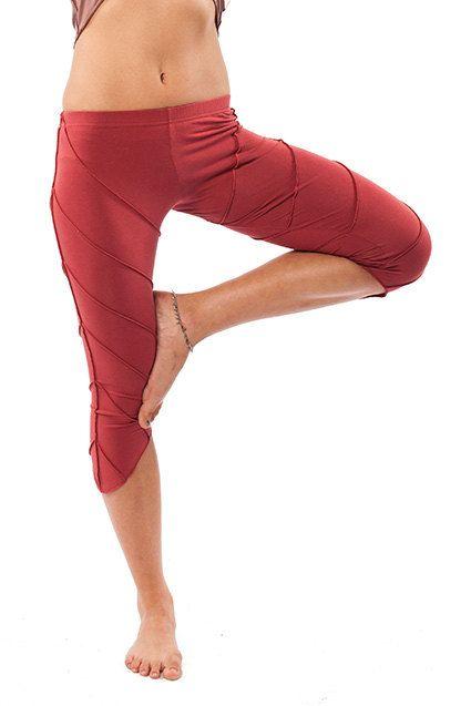 YOGA PIXIE legging legging coton bio legging rouge par AltshopUK