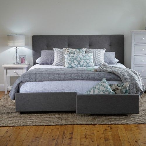 georgia king bed frame with storage drawers products 1825 interiors - King Size Bed Frame With Headboard