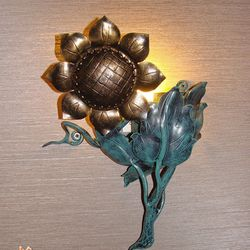 A sunflower as a side lamp