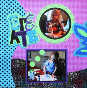 """Craft Scrapbook Page with the title """"Create""""  from Cricut's Out of Character - from Everyday Life Album 32"""