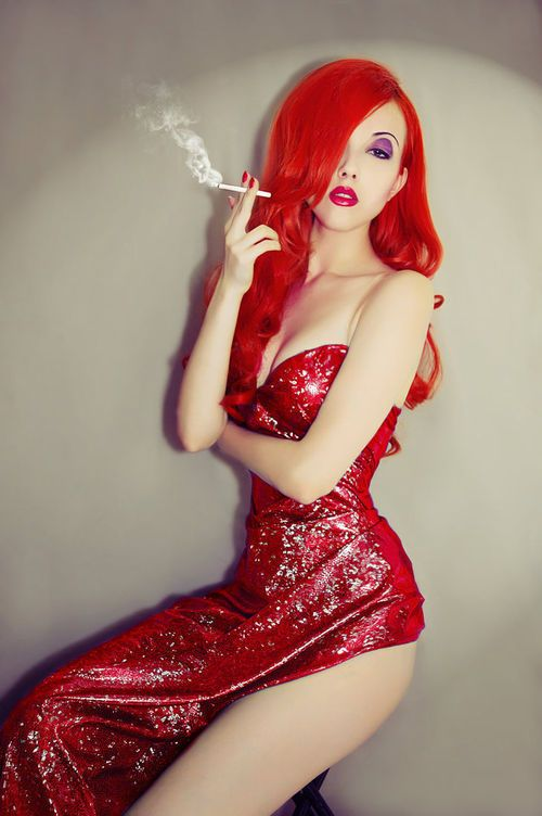 Would totally be Jessica Rabbit for Halloween if I had the body for it