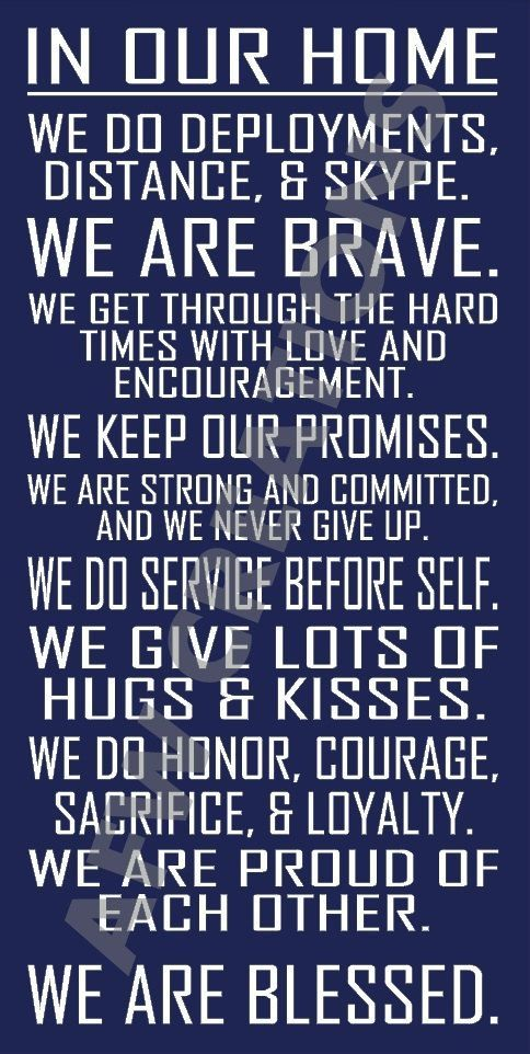 Military House Rules Sign - A must have for any military family! Air Force, Navy, Army, Marines, Coast Guard