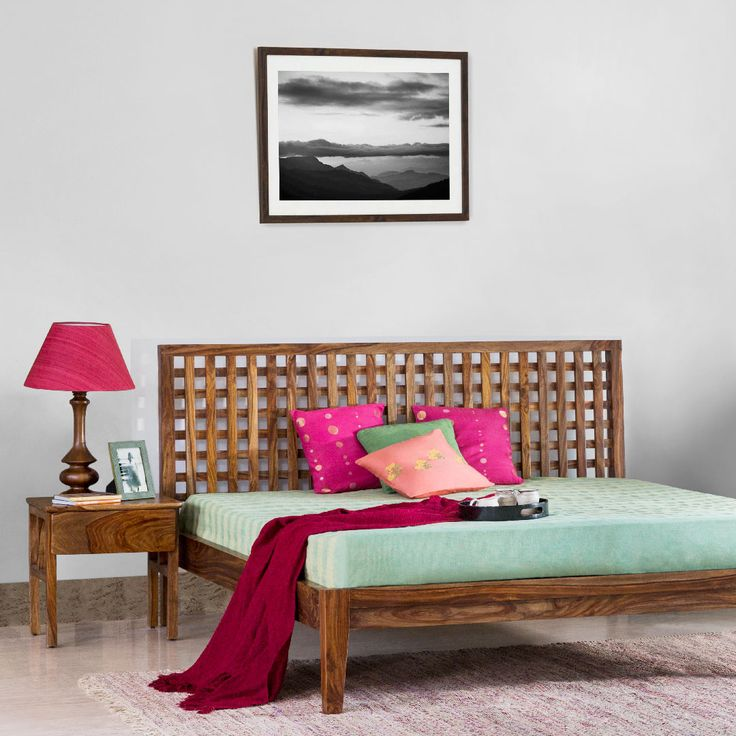 #home #bed #lifestyle #bedlinen #furniture #wood #wooden #decor #accessories #cushions #bedside #table-lamp #Fabindia