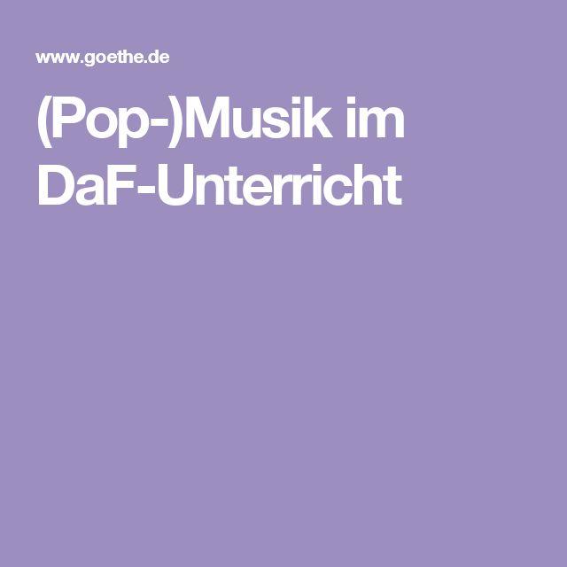 (Pop-)Musik im DaF-Unterricht
