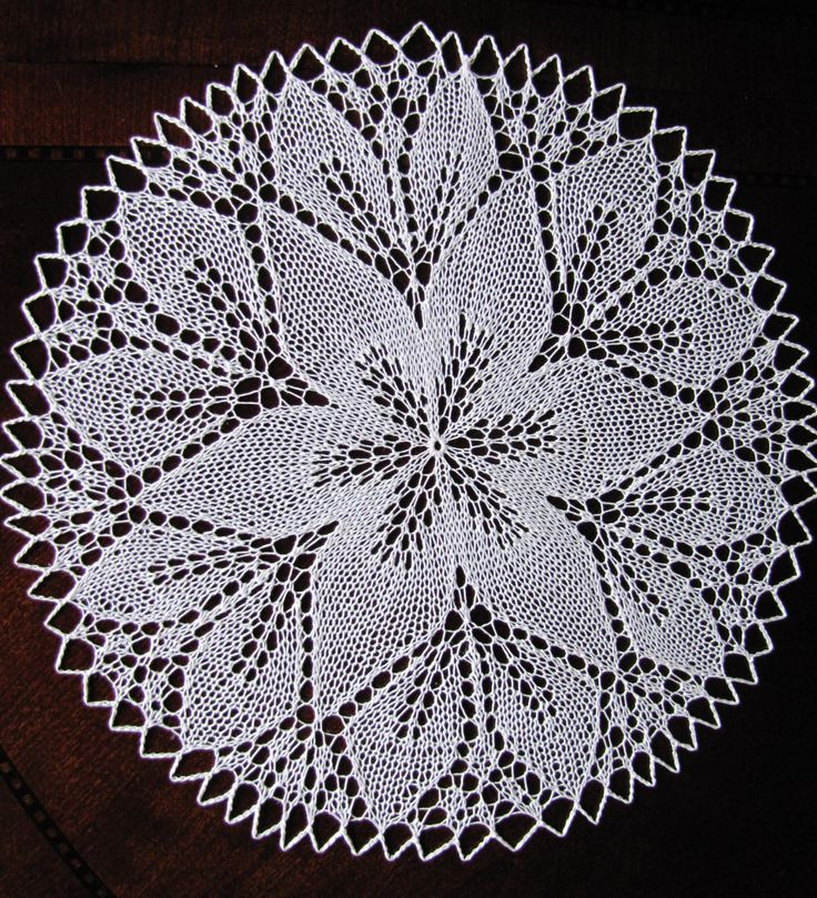 "12.5"" handmade knitted lace doily/ place mat/ table centerpiece -white - ready to ship by BloomingNeedles on Etsy"