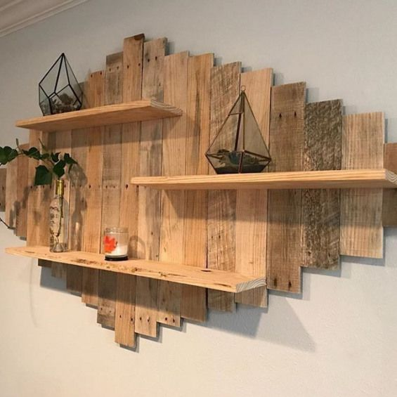 Pallet Shelf Diywoodwork Wooden Pallet Projects Wooden Pallet
