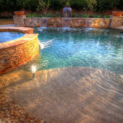 1000 ideas about walk in pool on pinterest beach entry for Walk in pool designs