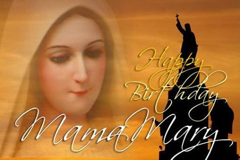 Happy birthday Mama Mary! Thanks for saying yes to being the Mother of our Savior!  O Mary conceived without sin, pray for us who have recourse to you.  www.MiraculousMedal.org  Regina Coeli  Queen of Heaven  V. Queen of Heaven, rejoice, alleluia. R. For He whom you did merit to bear, alleluia. V. Has risen, as he said, alleluia. R. Pray for us to God, alleluia. V. Rejoice and be glad, O Virgin Mary, alleluia. R. For the Lord has truly risen, alleluia.