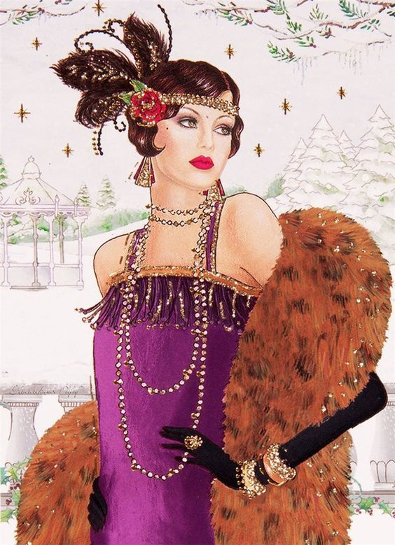 Женские образы в арт деко стиле.. Обсуждение на LiveInternet - Российский Сервис Онлайн-Дневников:
