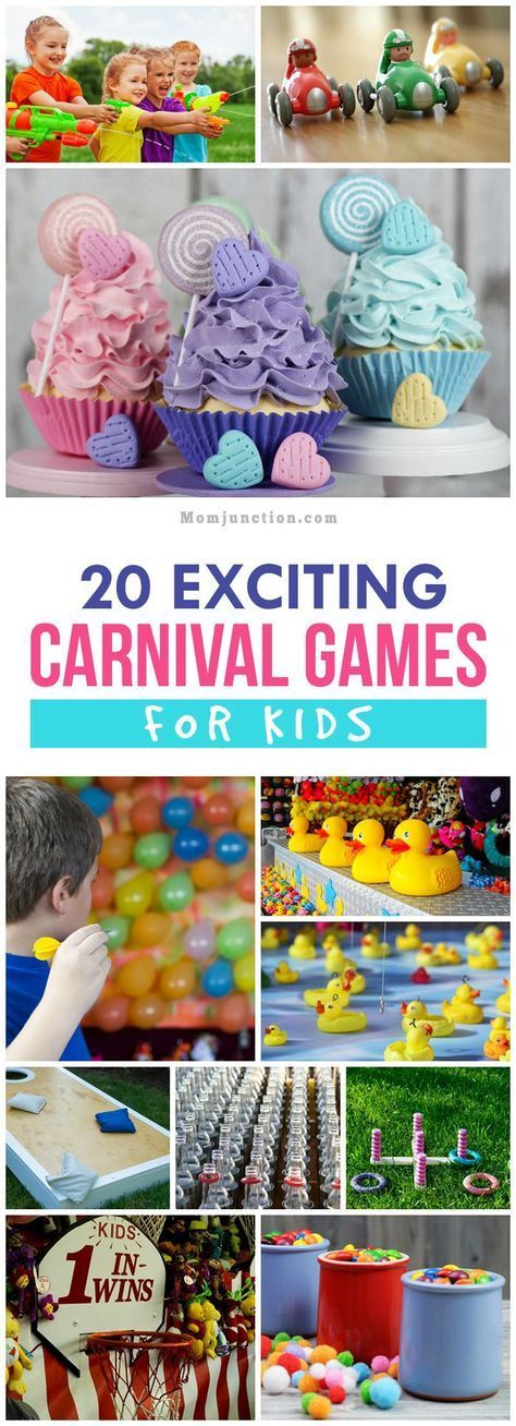 Here's a list of carnival games for kids that will get them started towards creating a fun-filled carnival. Activities include from toddlers to older kids.