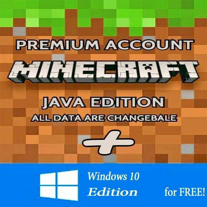 Minecraft Java Edition Premium Account Full Access Region Free Minecraft Playing Game Minecraft How To Play Minecraft Java
