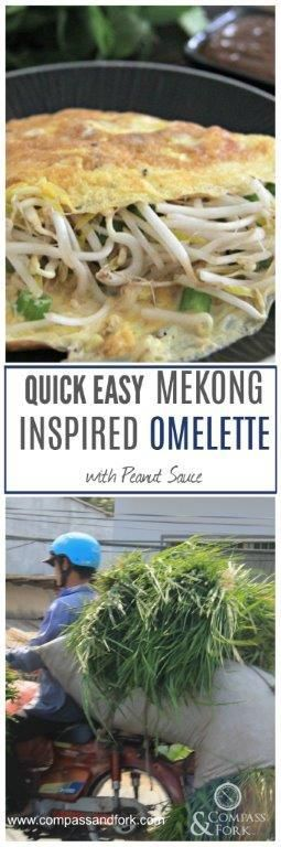 Quick Easy Mekong Inspired Omelette With Peanut Sauce