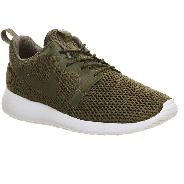 Nike Roshe Run Hyp ($115) ❤ liked on Polyvore featuring shoes, athletic shoes, hers trainers, medium olive breathe, trainers, olive green shoes, nike shoes, nike footwear, lightweight shoes and breathable shoes