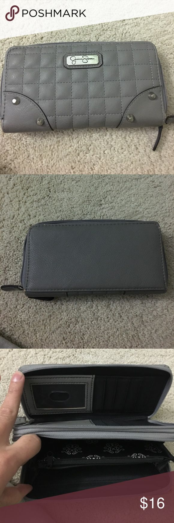 Gray Jessica Simpson wallet Gray Jessica Simpson wallet. Gently used. Smoke and pet free home. Jessica Simpson Bags Wallets