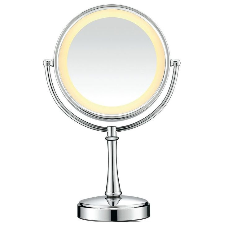Lighted Vanity Mirror Chrome : 17 Best ideas about Lighted Makeup Mirror on Pinterest Makeup vanities ideas, Lighted mirror ...
