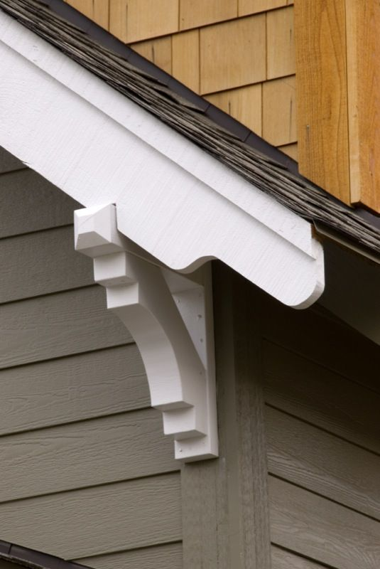 Roof corbels nice and simple roof idea can be dressed for Exterior house brackets