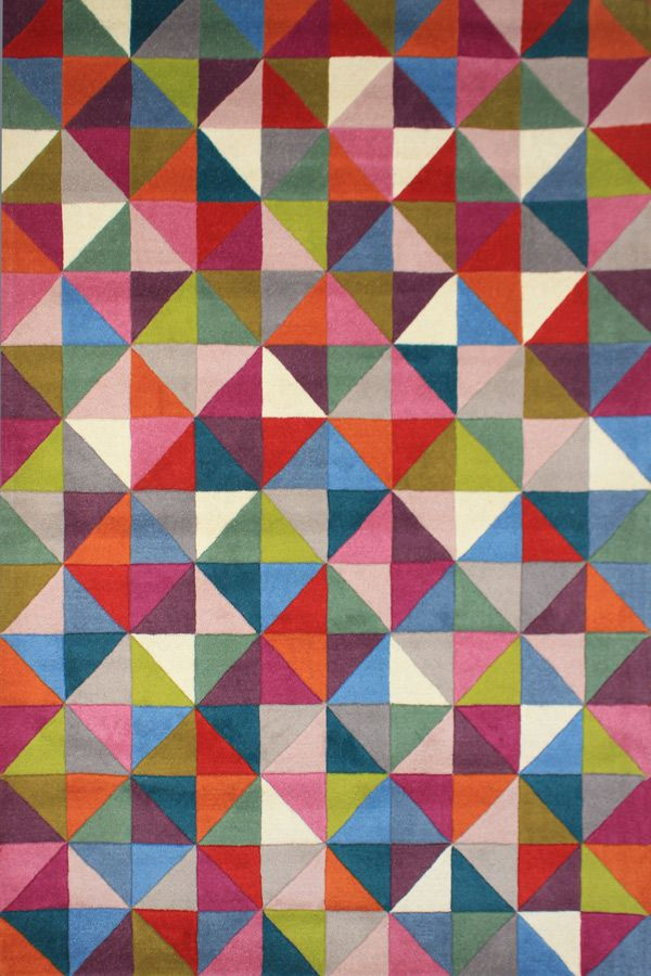 This Fun And Colourful Rug Is Made From