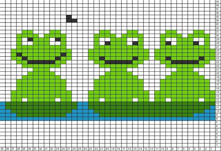 Tricksy Knitter Charts: frogs 2