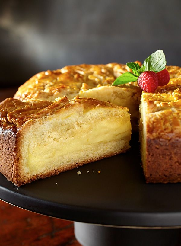 Classic French baking at its finest. Custard-filled French butter cake, made rich and creamy with #EuroStyleButter.